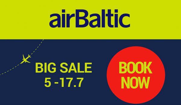 airBaltic распродажа авиабилетов
