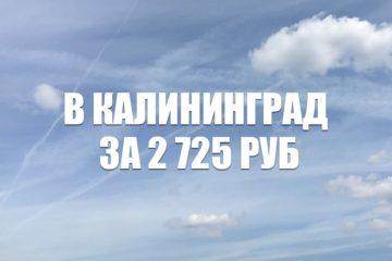 Авиабилеты Red Wings Москва – Калининград за 2725 руб.
