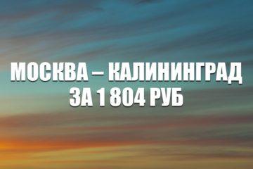 Авиабилеты Azur Air Москва – Калининград за 1804 руб.