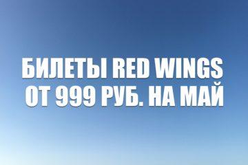 Авиабилеты Red Wings от 999 рублей на май 2021