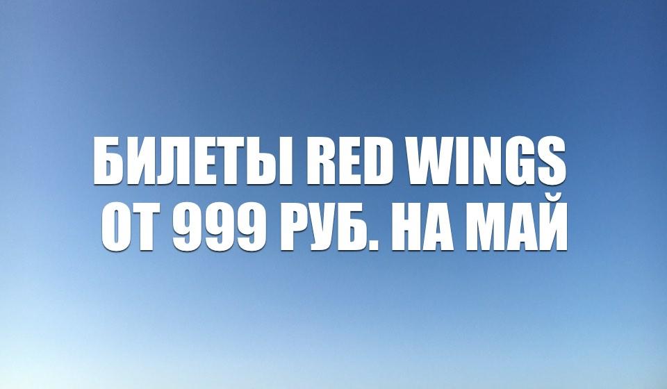 Распродажа билетов Red Wings от 999 руб. на май 2021