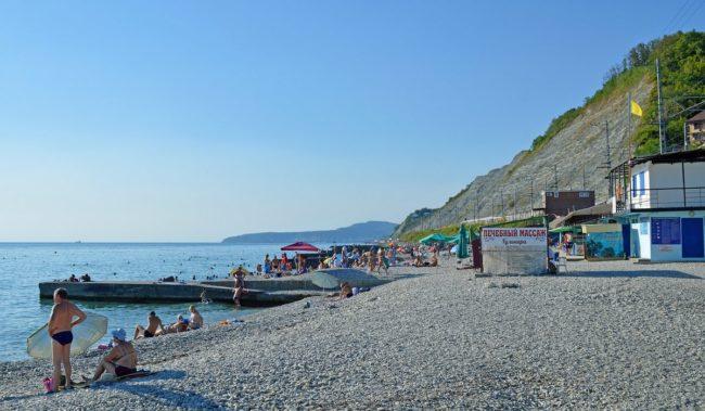 Центральный пляж в Дедеркое