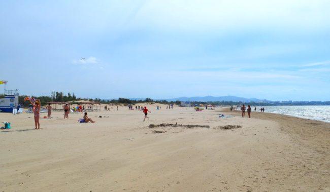Центральный пляж в Джемете
