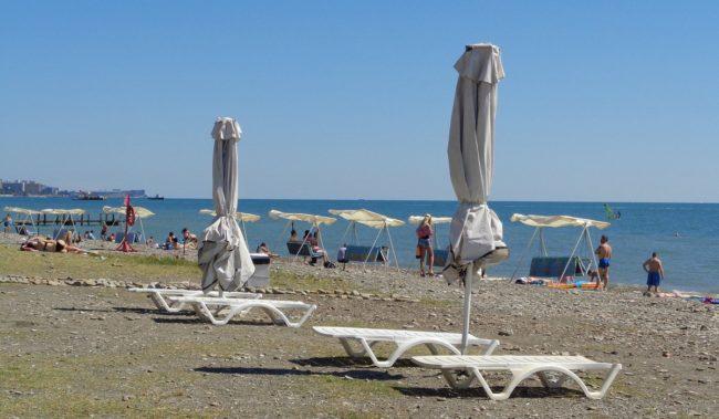 Центральный пляж в Хосте