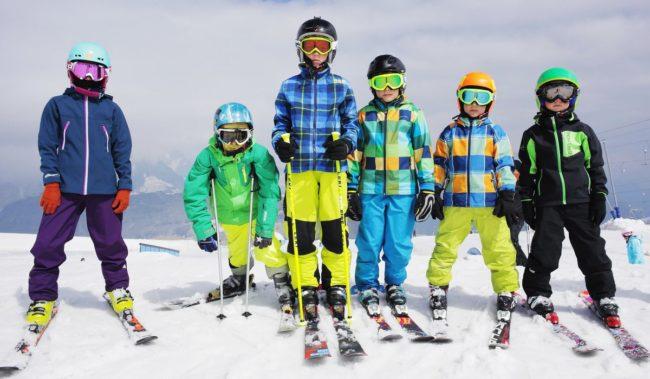 Дети отдых на лыжах