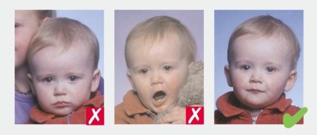 Требования к фотографии ребенка