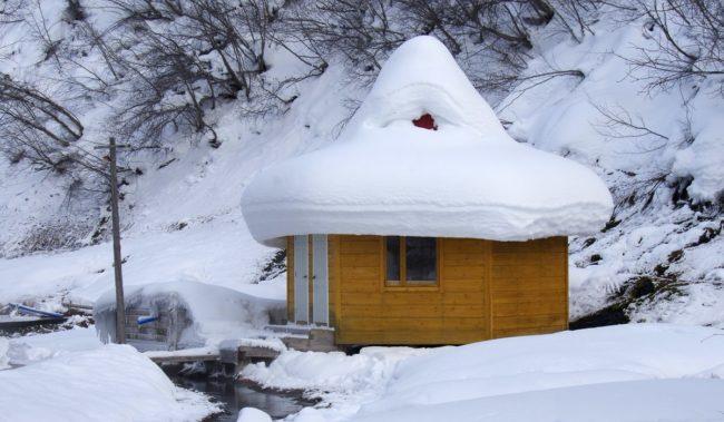 Термальные источники зимой