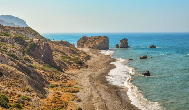 Петра-ту-Ромиу Скала Афродиты на Кипре