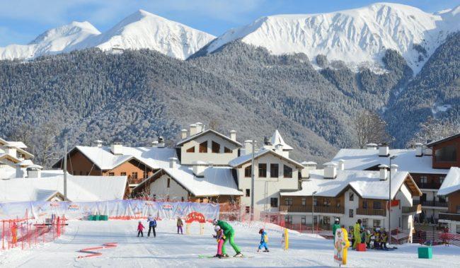 Лыжная школа для детей Роза Хутор в Красной Поляне