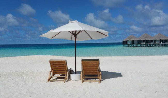 Пляж на Мальдивских островах