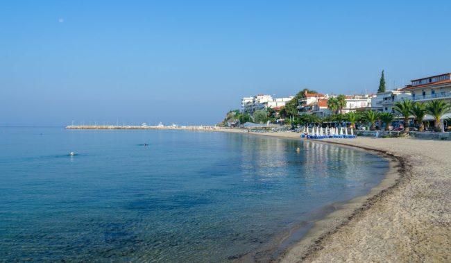 Пляж Неа Калликратия возле Салоников
