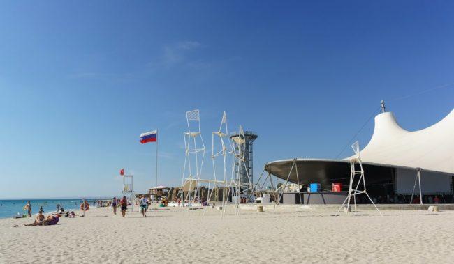 Пляж Z-City Казантип