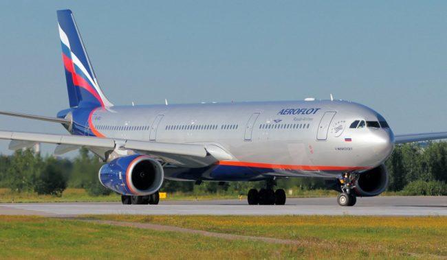 Самолет авиакомпании Аэрофлот Airbus A330