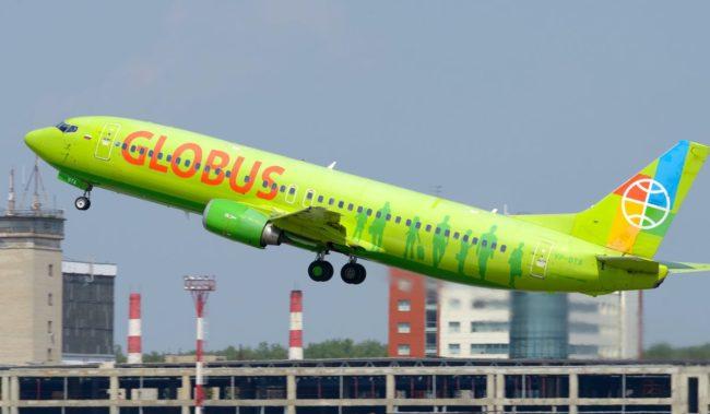 Самолет авиакомпании Глобус Boeing 737-800