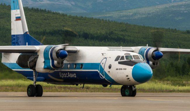 Самолет авиакомпании КрасАвиа Ан-26