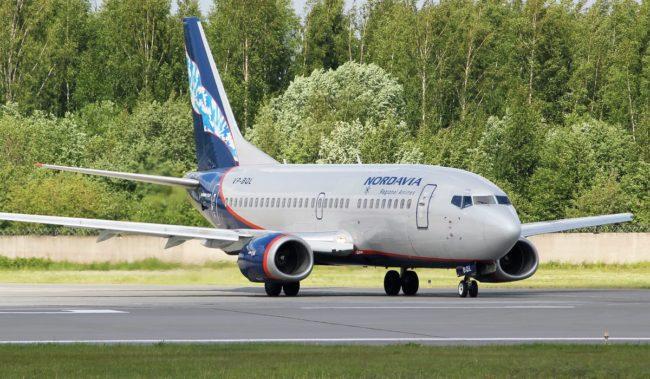 Самолет авиакомпании Нордавиа Boeing 737-500