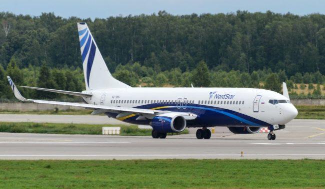 Самолет авиакомпании NordStar Boeing 737-800