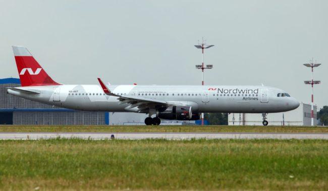Самолет авиакомпании Nordwind Airlines Airbus A321-200