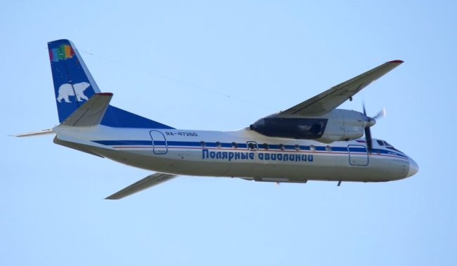 Самолет авиакомпании Полярные авиалинии АН-24