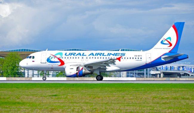 Самолет авиакомпании Уральские авиалинии Airbus A319
