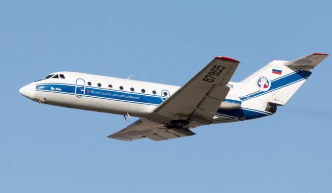 Самолет авиакомпании Вологодское авиапредприятие Як-40