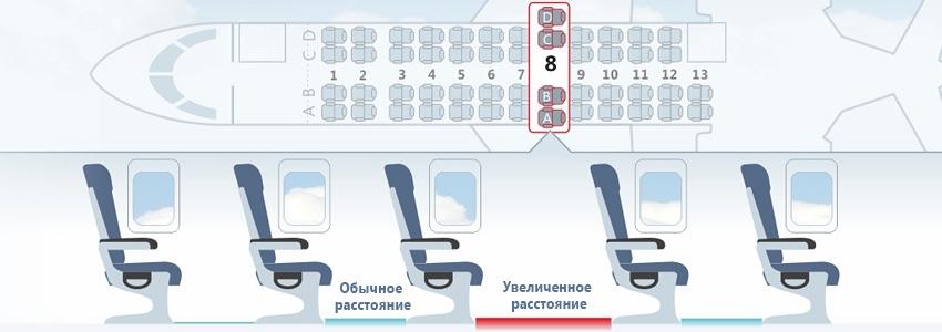 Схема салона самолета РусЛайн