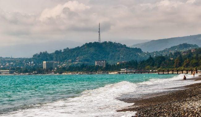 Синопский пляж в Сухуми