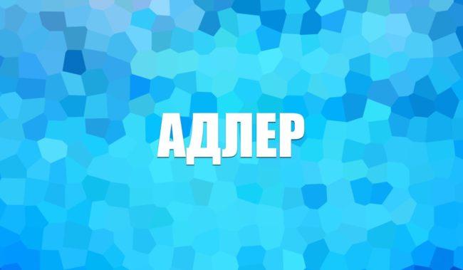 Отдых Адлер